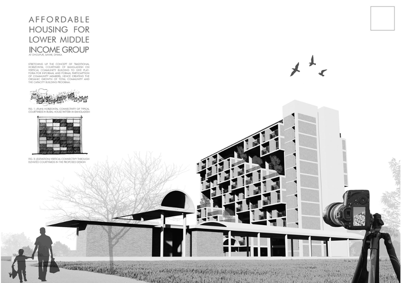 1st award winner in competition at affordable housing for middle income group2020